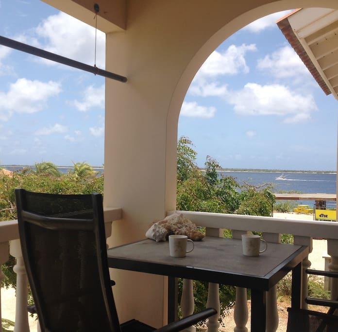 Ocean view of Klein Bonaire from balcony