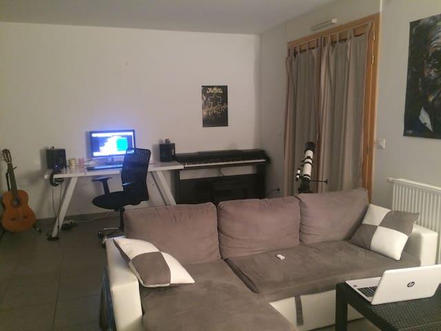 Appartement proche de Genève (Jardin + Terrasse)