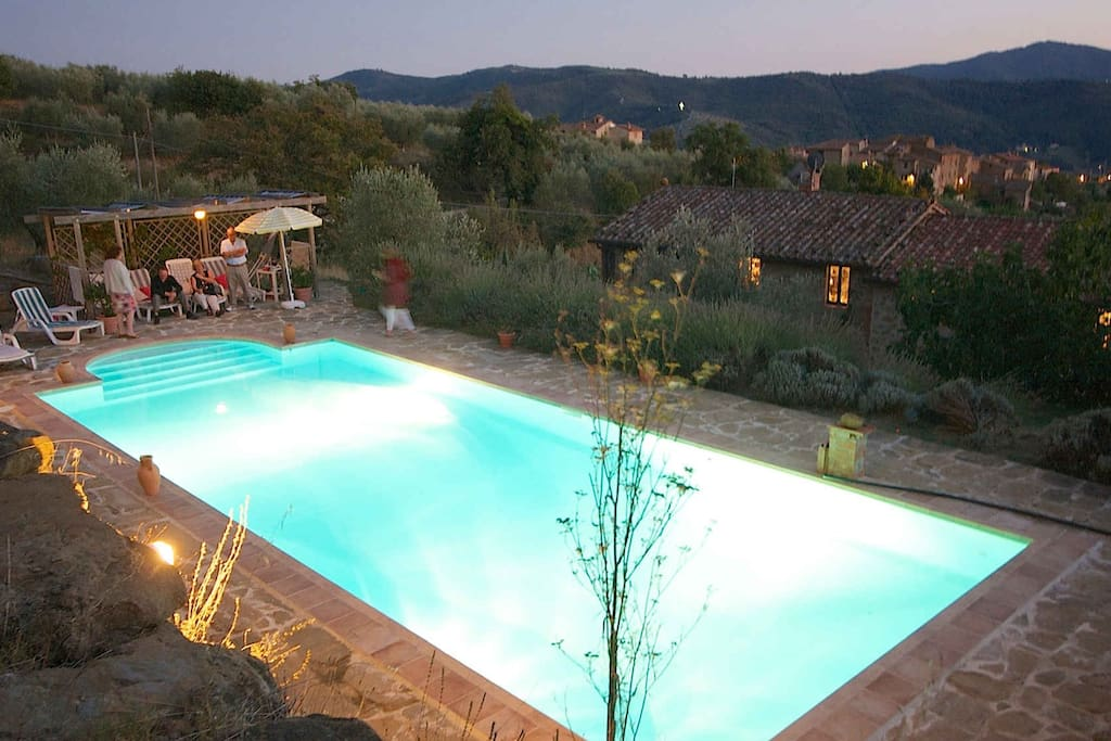 12m pool overlooking the hamlet and valley