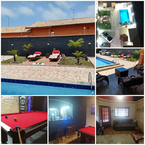 Linda casa com piscina-Cibratel - 500mt da praia