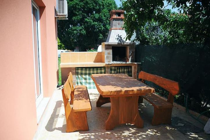 Big garden table with grill