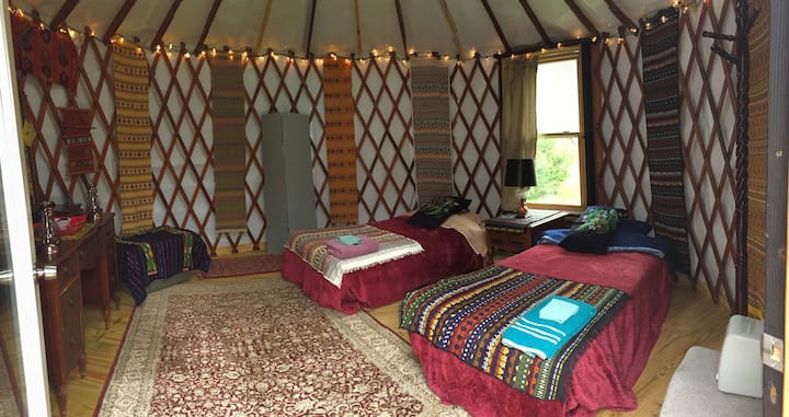 Eco-Chic Mountain Zen Yurt (Guatemala Mayan)