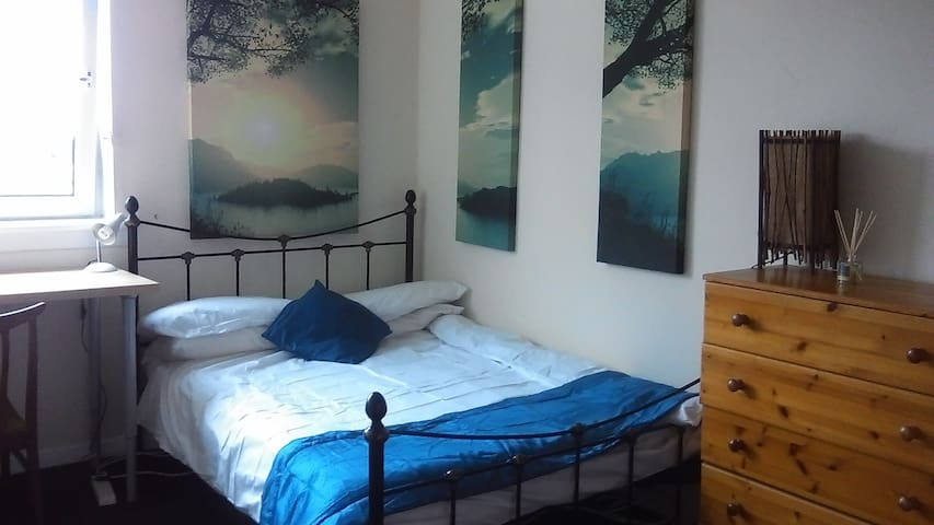 Double room in city centre, vegetarian flat