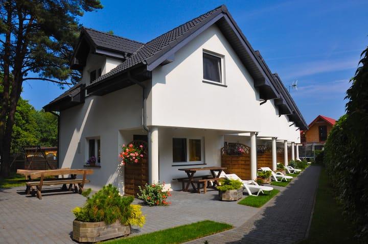 Domki RAJ nad Bałtykiem apartament na parterze