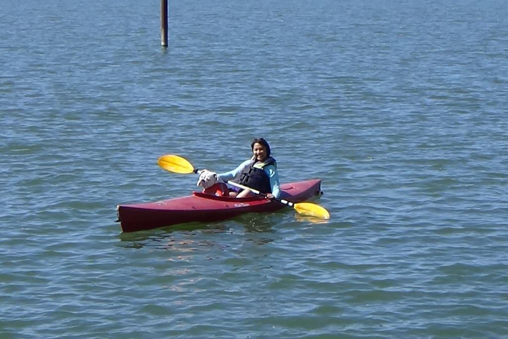 Kayaker & Friend