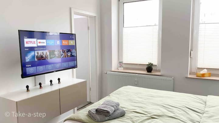 modern apartment with Netflix