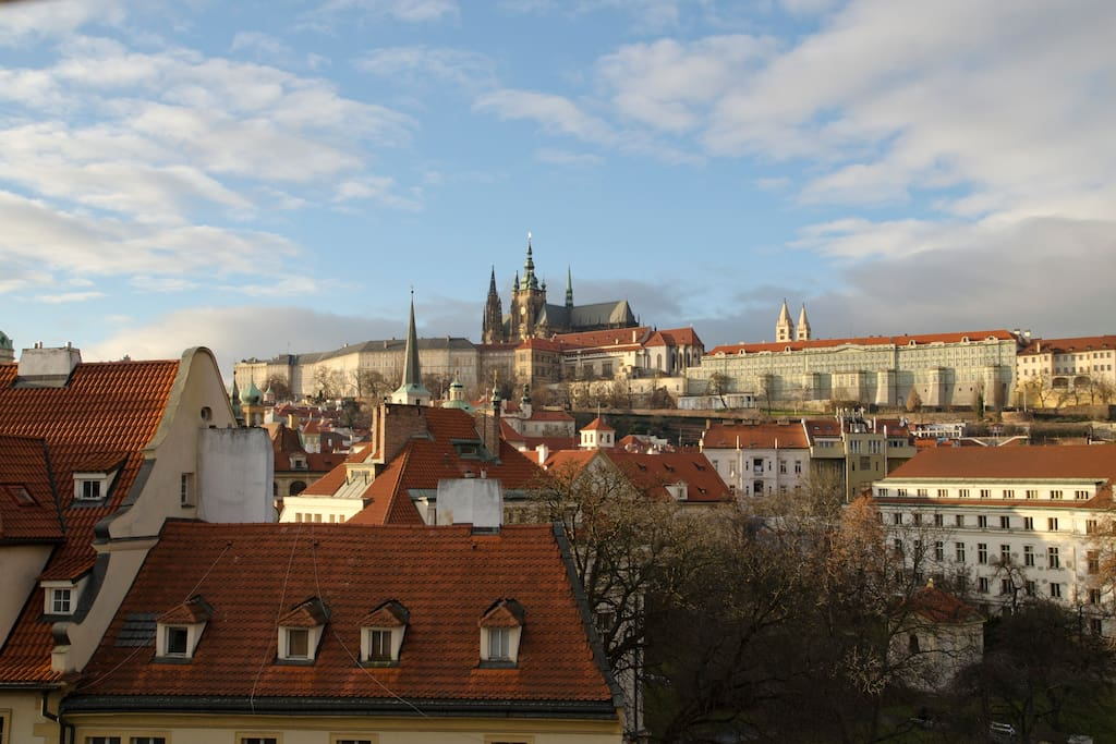 Excelent view to Prague Castle from the window