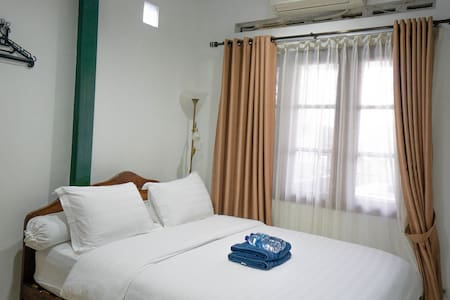 This is where you gonna spend your night, cozy bed with air conditioner, cool atmosphere