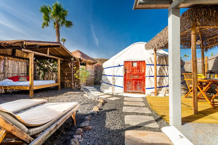 Eco Palm Yurt Sea Views Pool Beach Wifi Yurts For Rent In Arrieta Canary Islands Spain Here it is, the list of more than 200 huts, lodges and yurts throughout north america. airbnb
