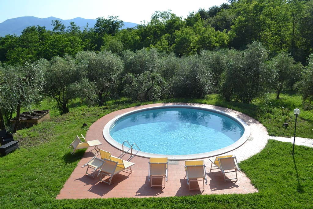 Swimming pool, view from Peonia bedroom.