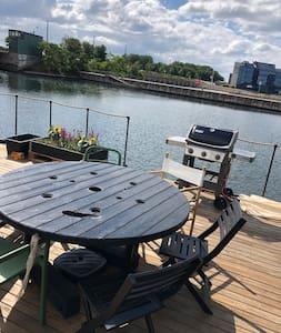 Modern houseboat in Copenhagen