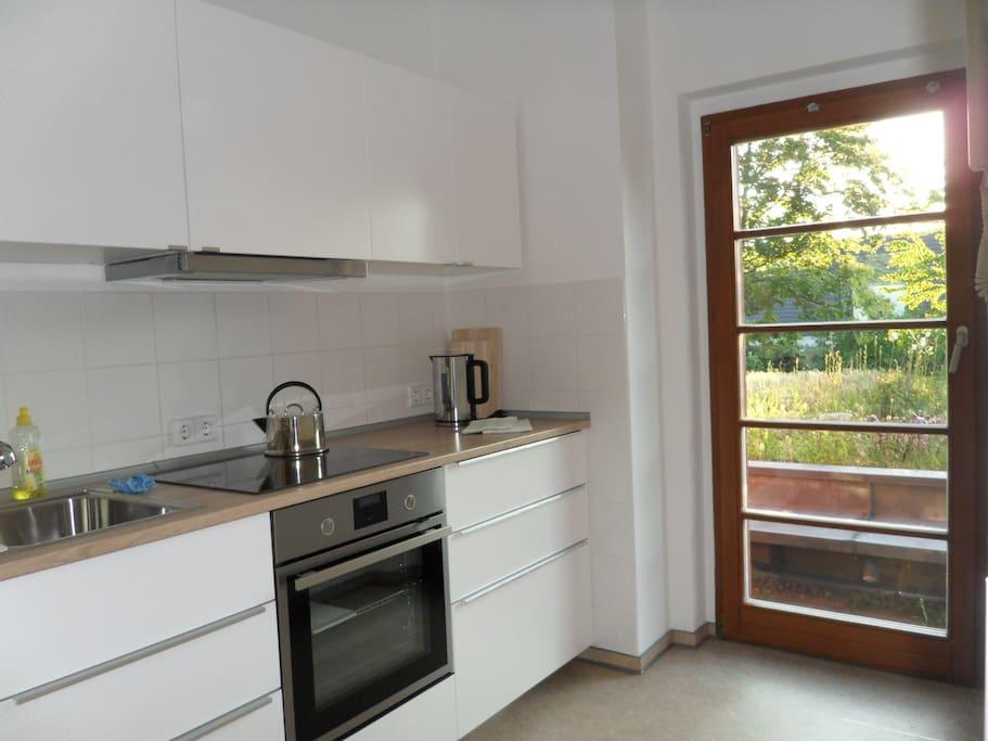 Küche mit Dachterrasse