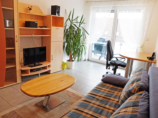 Cosy Holiday Apartment with Wi-Fi, Balcony and Garden; Parking Available