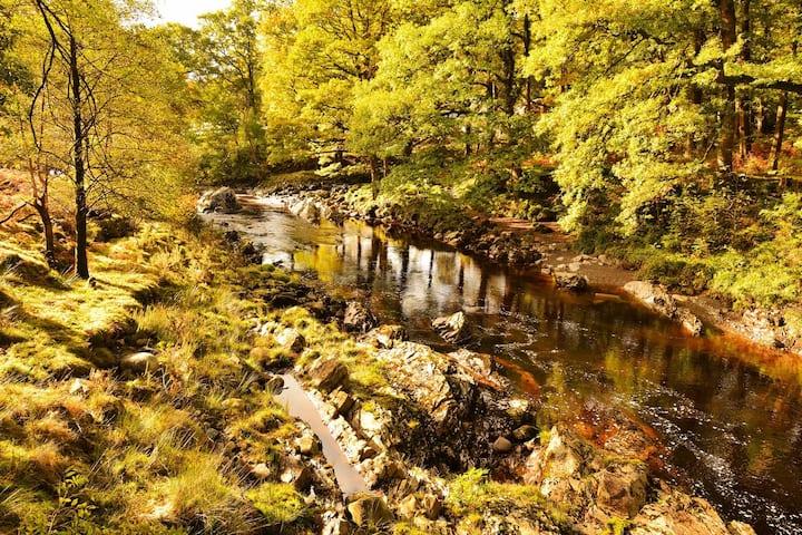 Woodland Retreat with HOT TUB, Walks- Pub-Views