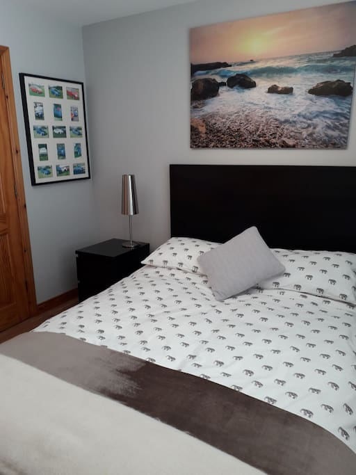 Cosy double room with separate shower room.