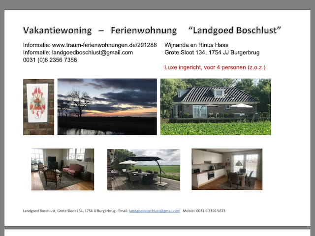 "Luxe vakantiewoning ""Landgoed Boschlust"""