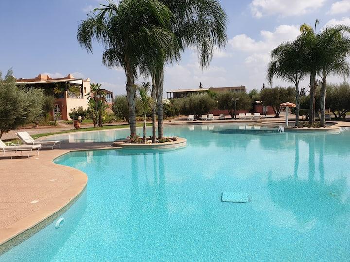 Marrakech appartement terrasse 100m2 et jardin rdc
