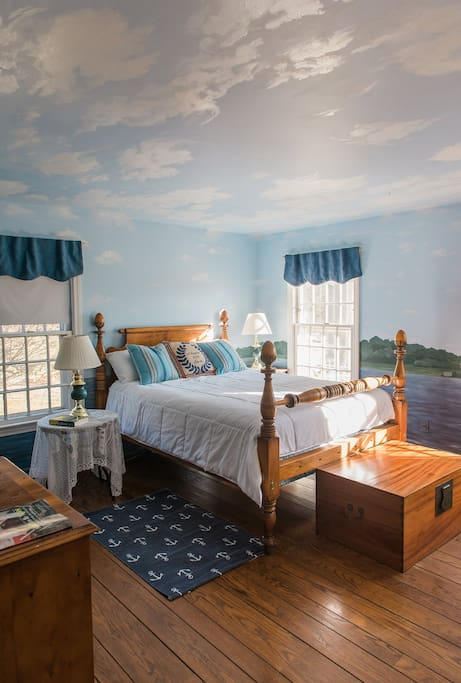The 4 bedrooms and 4 1/2 baths feature antiques