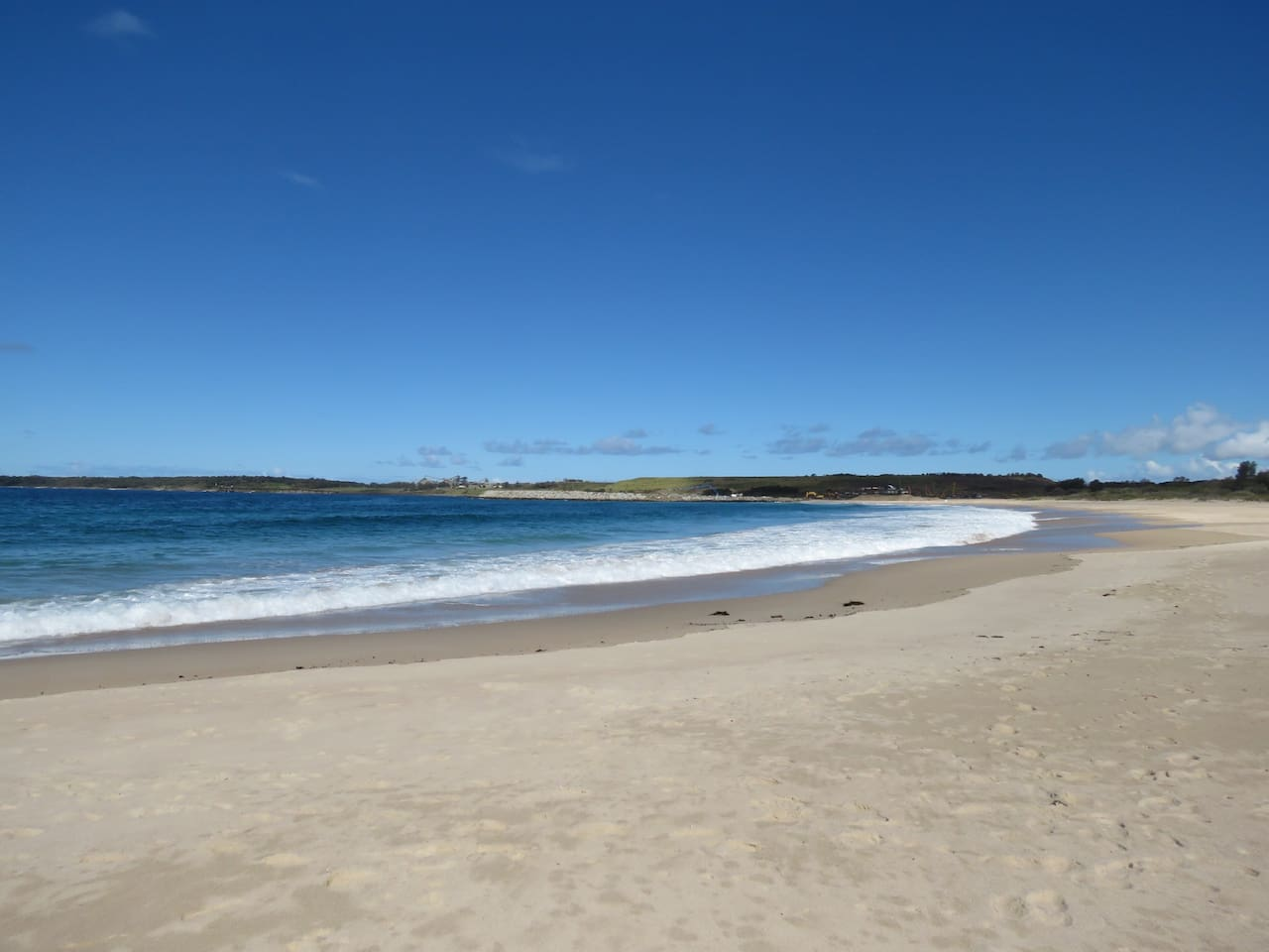 Shellharbour Sth beach looking down towards the new marina currently under construction