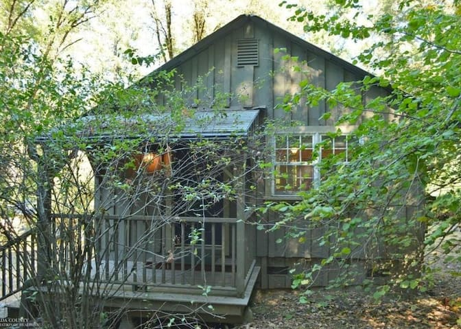 Creekside Cottage: relax in nature, walk to town! - Nevada City - Houten huisje