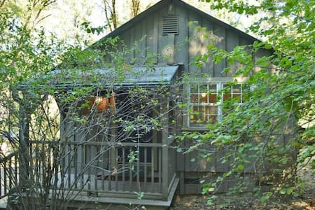 Creekside Cottage: relax in nature, walk to town! - Nevada City - Srub