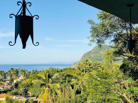 Casita Verde - bolsa de pesca océano selva w gran terraza para solearse