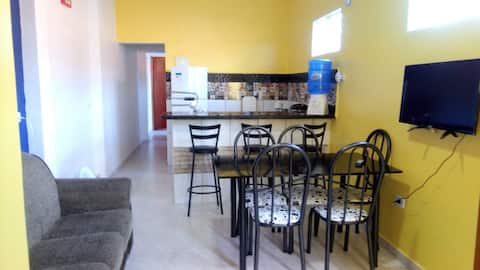 Yellow flat 01. New construction. 5 min to airport