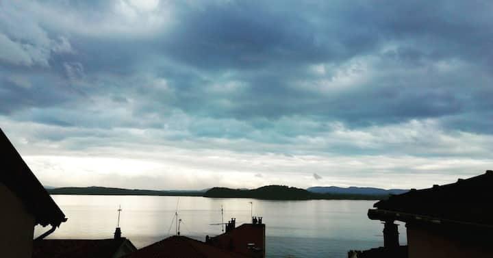 Casa con splendida vista lago