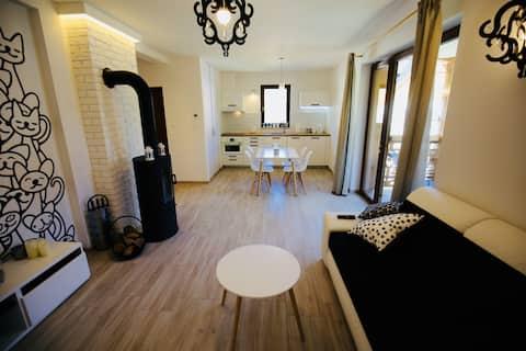Apartament Biały Kot - luksus w Pieninach.