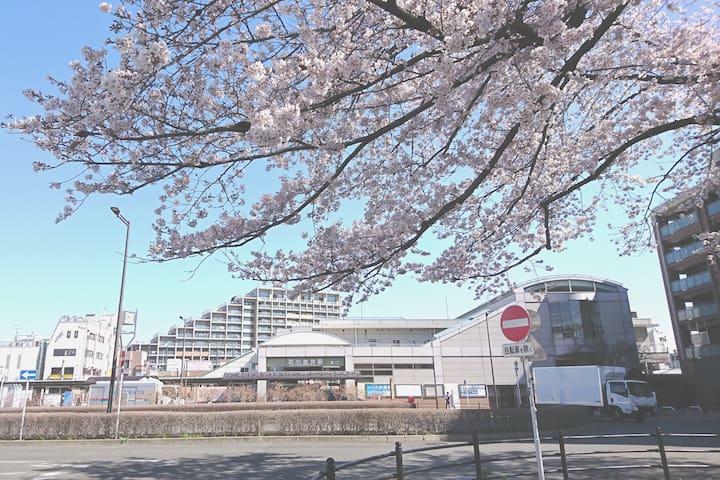 方便:离车站3分钟(西武新宿线花小金井,)付近:巴士站、超市、便利店,