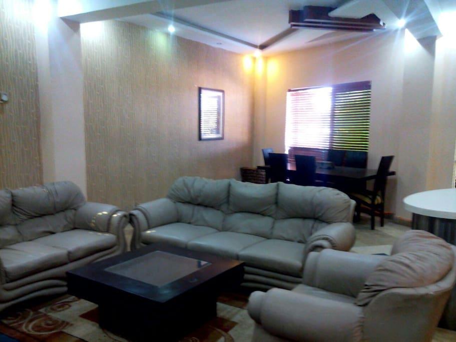 Living room,sofa set,dinning table
