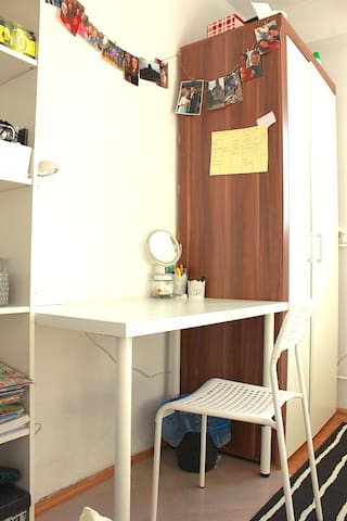 Here's a desk at which you can use our super stable Wi-Fi