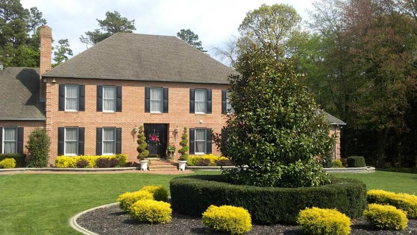 Br in Beautiful brick home, wooded - Woodbine - Hus