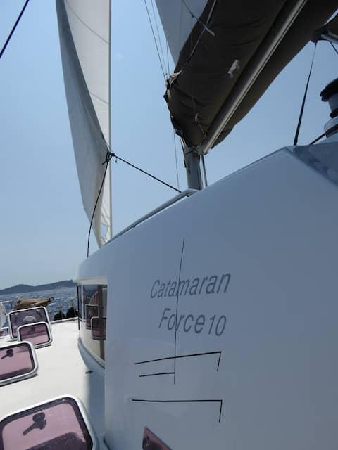 Charme et confort à bord d'un catamaran