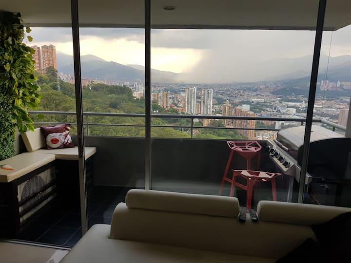 Vista perfecta a toda la ciudad de Medellín