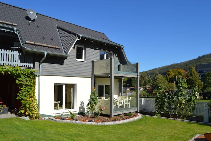Holiday home consisting of two apartments with garden, terrace and balcony