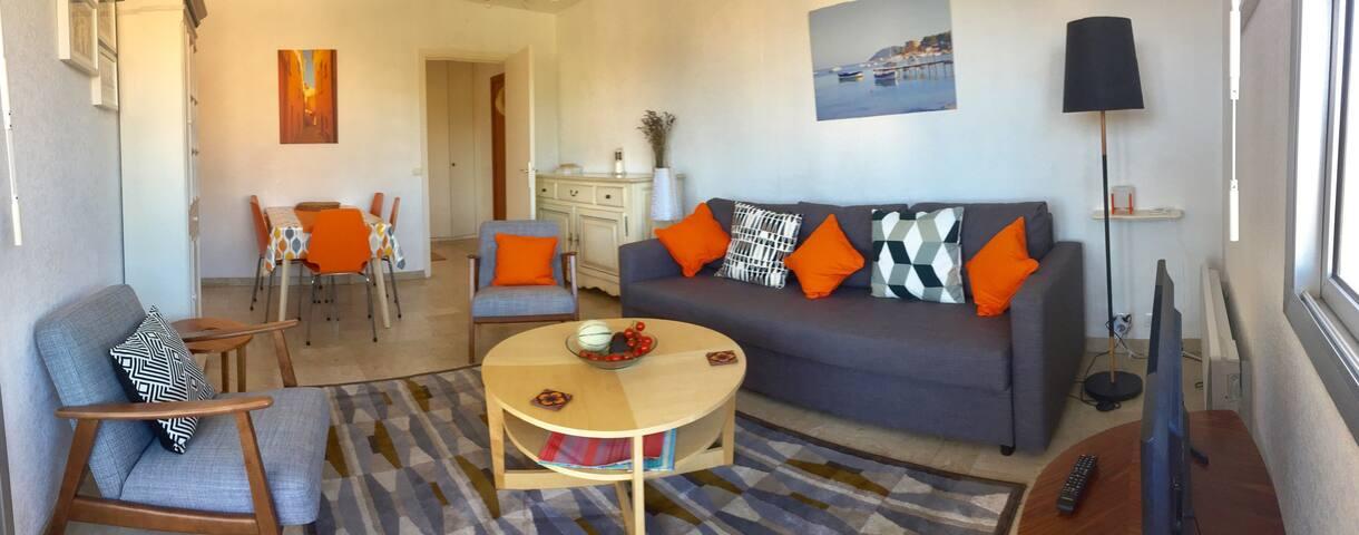 Sunny, modern apartment