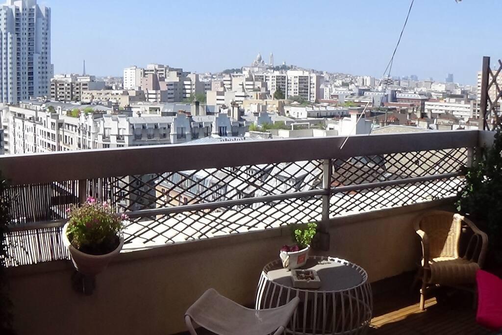 Terrasse et vue tour eiffel appartements louer paris Terrasse vue paris