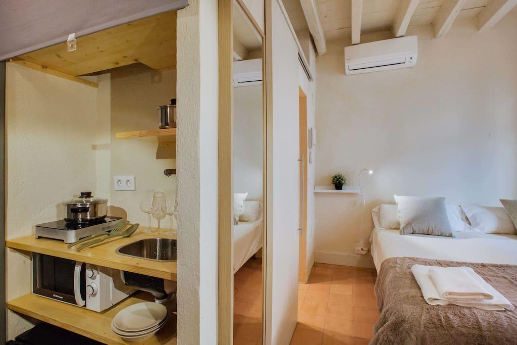 Habitación completamente equipada