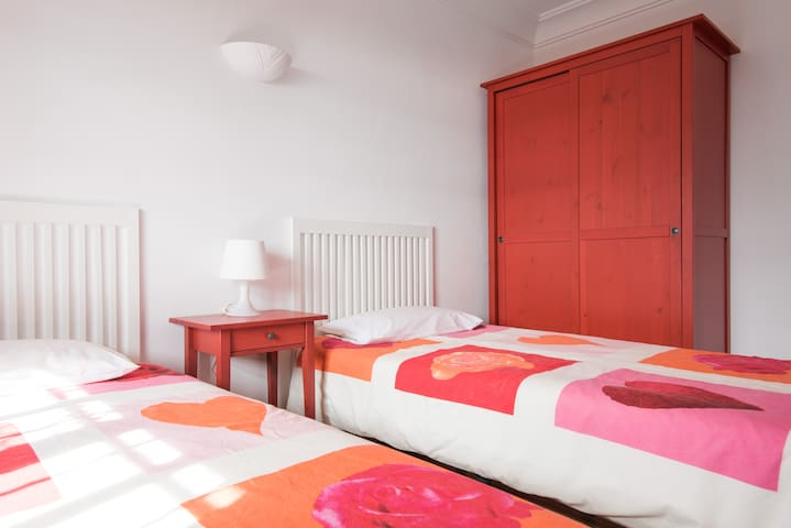"""Ground floor """"Red"""" bedroom with new Ensuite added 2020"""