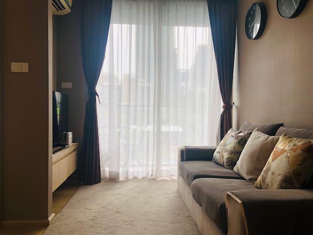 LoveBangkok民宿 双人房 3083 市中心/轻轨旁/全套乳胶寝具