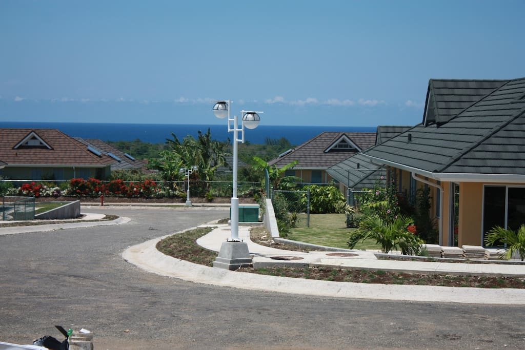 Ocean view from the front porch