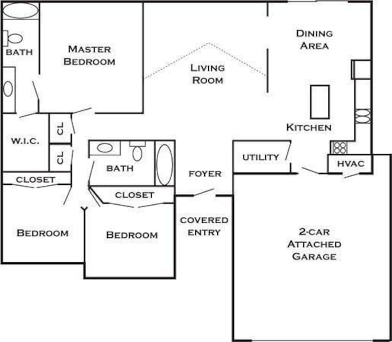 Family friendly home extended stay houses for rent in for Extended family house plans