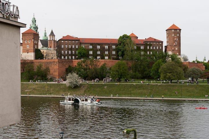 Apartment with a view of the Wawel Castle