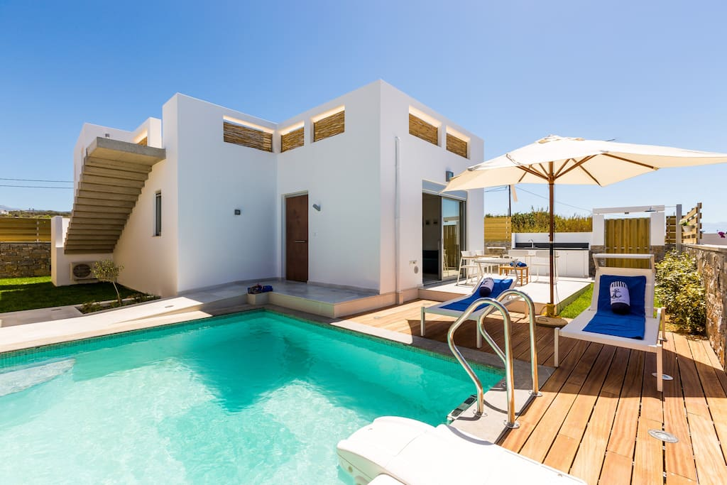 Sunbathing area by the pool, external furniture from EMU