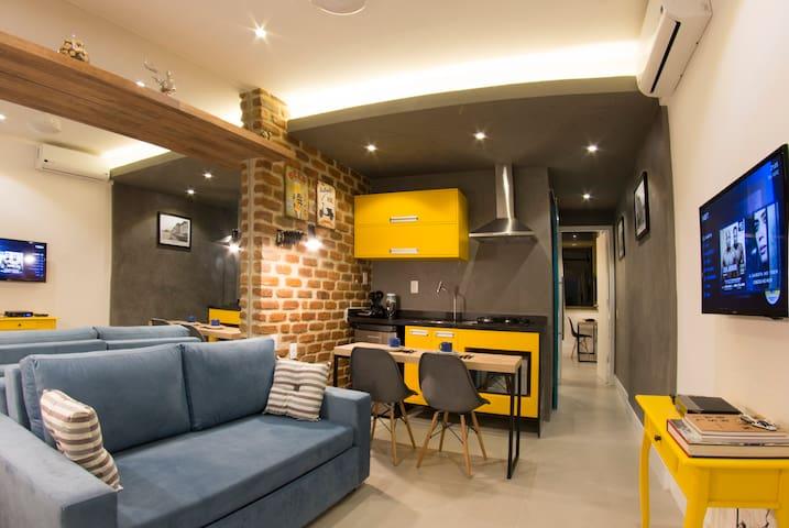 Loft Vista Mar Copacabana/Garagem/100%Climatizado