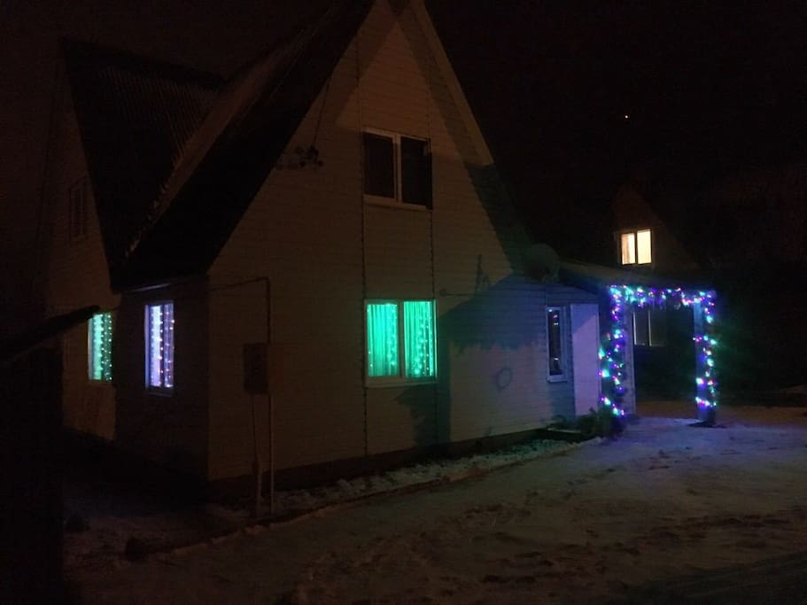 световая подсветка в Новогодние праздники