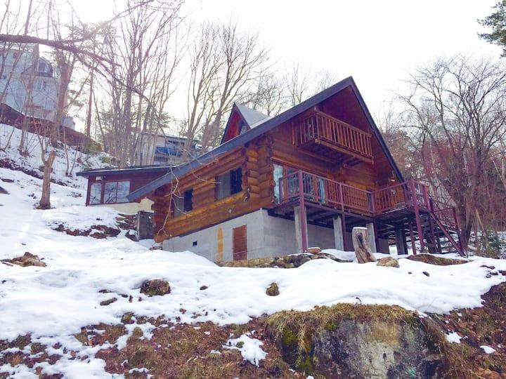 Log Cabin & Private Hot Spring Spa