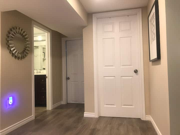 Master bedroom in apartment