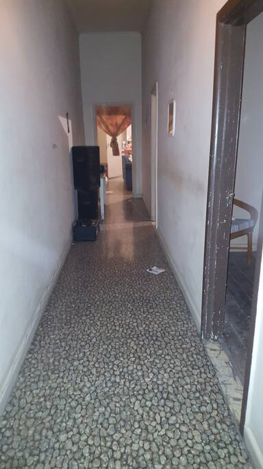 Hallway and funky vinyl flooring